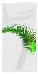 Lonely Tropical Leaf Hand Towel