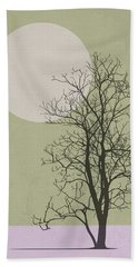Lonely Winter Tree Hand Towel