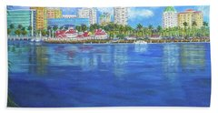 Long Beach Shoreline Bath Towel