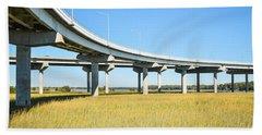 Long Concrete Bridge  Hand Towel