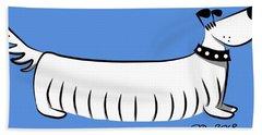 Long Dog Bath Towel