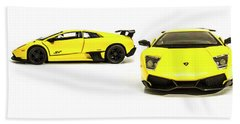 Long Lambo Lineup  Bath Towel