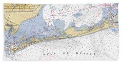 Longboat Ket Florida Noaa Nautical Chart Bath Towel