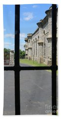 Looking Out Of The Ohio State Reformatory Mansfield Ohio  1444 Bath Towel
