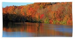 Bath Towel featuring the photograph Looking Out Over Alum Creek by Angela Murdock