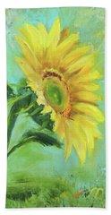 Loose Sunflower Hand Towel