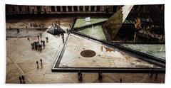 Louvre Pyramid Bath Towel