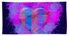 Hand Towel featuring the digital art Love Barcelona by Alberto RuiZ