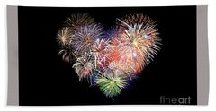Love Fireworks Hand Towel