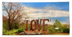 Love In Farmville Virginia Hand Towel