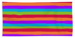 lumpy or bumpy lines abstract and summer colorful - QAB273 Bath Towel