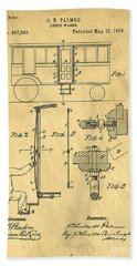 Lunch Wagon Patent Precursor To The Diner 1893 Bath Towel