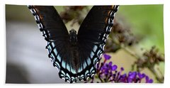 Luxurious Red-spotted Purple Bath Towel