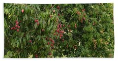 Lychee Tree With Fruit Bath Towel