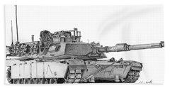 M1a1 A Company Commander Tank Bath Towel