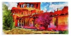 Mabel's Courtyard In Aquarelle Hand Towel