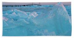Mackinac Bridge In Ice 2161806 Bath Towel