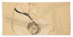 Madame Helleu Cradling Paulette In Her Arms, 1904-05 Bath Towel