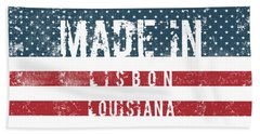 Made In Lisbon, Louisiana #lisbon Hand Towel