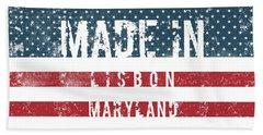 Made In Lisbon, Maryland #lisbon Hand Towel