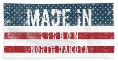 Made In Lisbon, North Dakota #lisbon Hand Towel
