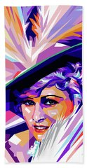 Mae West Pop Art Bath Towel