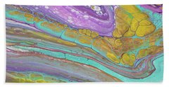 Hand Towel featuring the painting Magenta Turquoise And Gold by Darice Machel McGuire