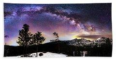 Magic Above Rocky Mountain National Park Bath Towel