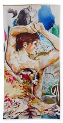 Bath Towel featuring the painting Magic Loves The Hungry  by Rene Capone
