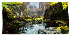 Magnificent Rural Canyons Montage Bath Towel