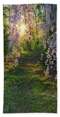 Magnolia Tree Sunset Hand Towel