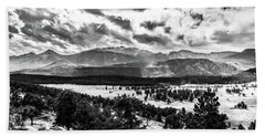 Majestic Clouds Bw Hand Towel