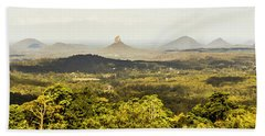 Maleny To The Glass House Mountains Hand Towel