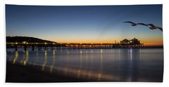 Malibu Pier At Sunrise Hand Towel