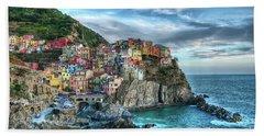 Manarola Cinque Terre Italy Hand Towel