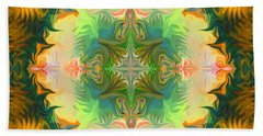 Hand Towel featuring the painting Mandala 12 8 2018 by Hidden Mountain