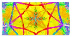 Hand Towel featuring the painting Mandala 12 9 2018 by Hidden Mountain