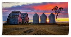 Manitoba Rural Scene Bath Towel