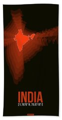 Map Of India Bath Towel