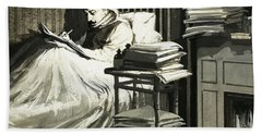 Marcel Proust Sat In Bed Writing Remembrance Of Things Past Bath Towel