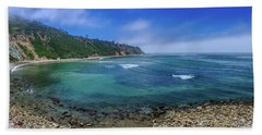 Marine Layer Over Bluff Cove Panorama Hand Towel