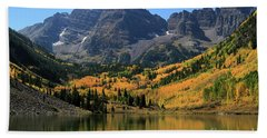 Maroon Bells In Fall Hand Towel