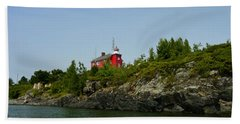 Marquette Michigan Lighthouse Hand Towel