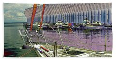 Marquette Ore Dock Lower Harbor. Hand Towel