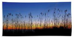 Marsh Grass Silhouette  Bath Towel