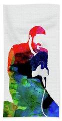 Marvin Gaye Watercolor Bath Towel