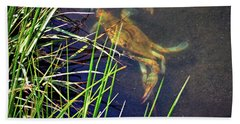 Hand Towel featuring the photograph Maryland Blue Crab Lurking In An Assateague Marsh by Bill Swartwout Fine Art Photography