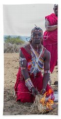 Maasai Warrior Hand Towel