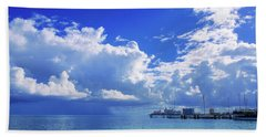 Massive Caribbean Clouds Hand Towel