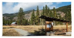 Mazama Barn Trail And Bench Hand Towel